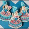 Marie Antoinette Dress Cookies