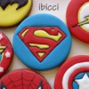 Super Heroes 5th Birthday cookies