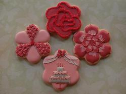 flower cookie set