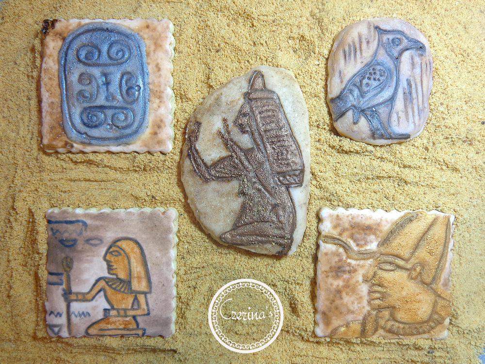Egyptian Artifacts Cookies