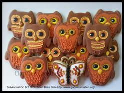 Fall Owls and a Butterfly