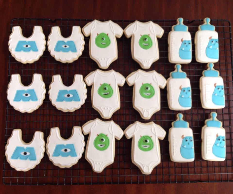 Monster Inc Baby Shower Cookies