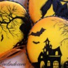 Halloween hand painted cookies