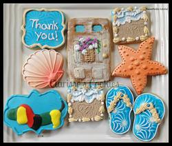 Beach Thank You Cookies