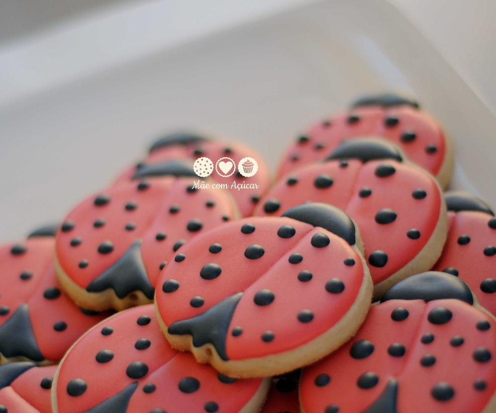 Garden Decorated Cookies- Lady Bugs