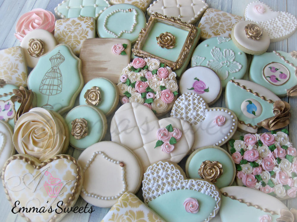Vintage Inspired Cookies By Emma S Sweets Cookie Connection