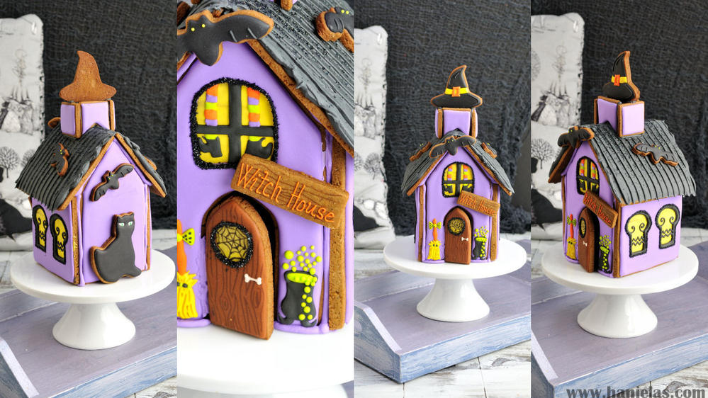 Halloween Gingerbread Witch House