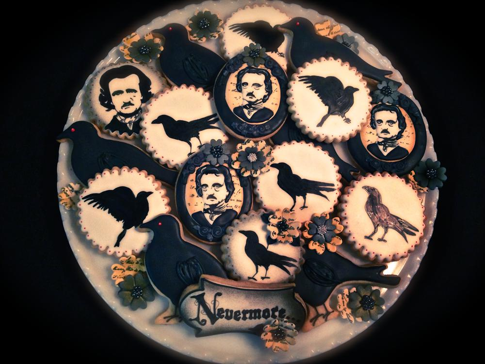 Edgar Allen Poe Themed Cookies