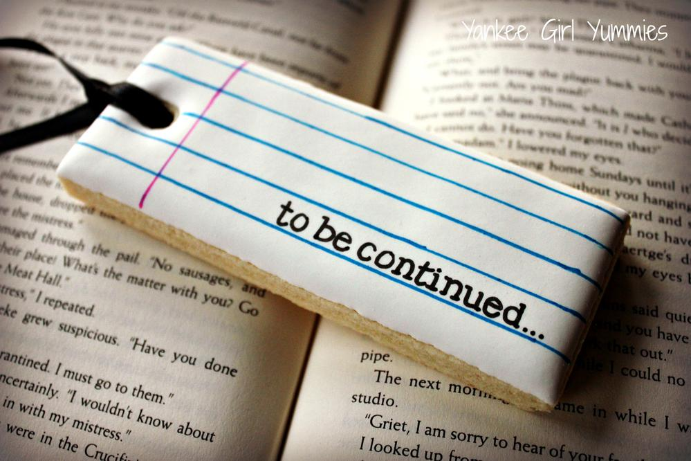 To be continued... book mark