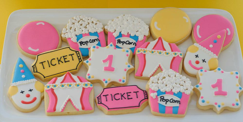 Circus cookies for girl