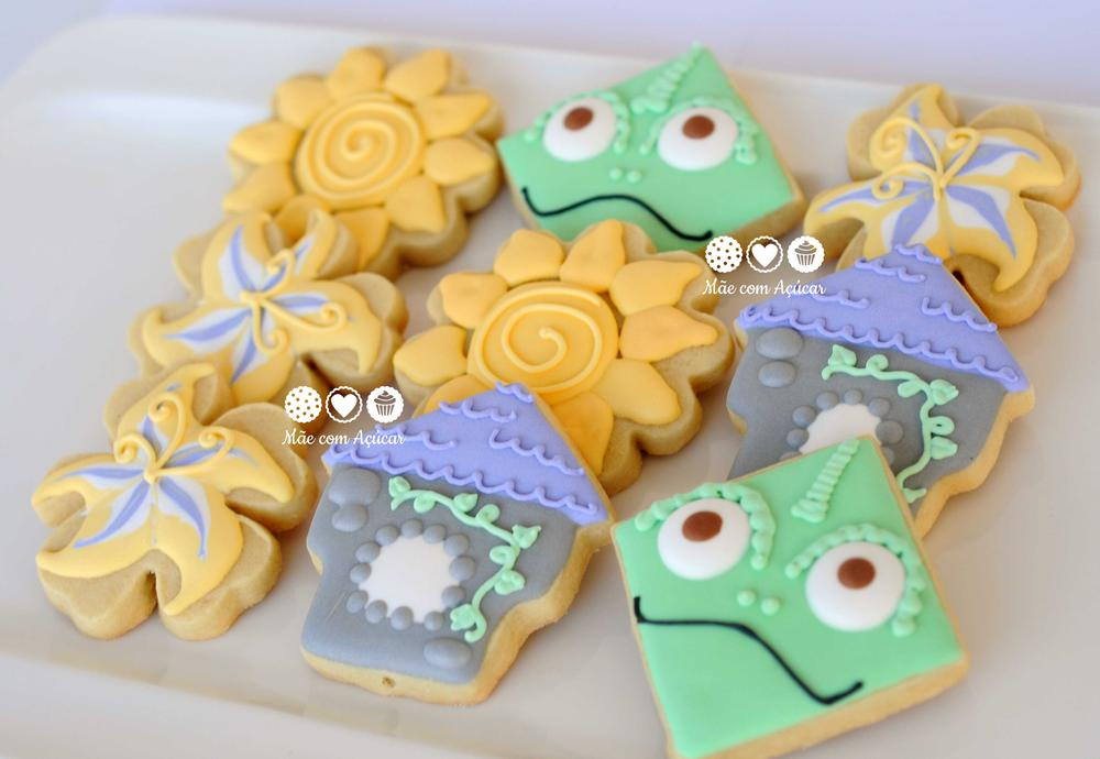 Tangled Decorated Cookies