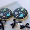 Space Decorated Cookies on stick