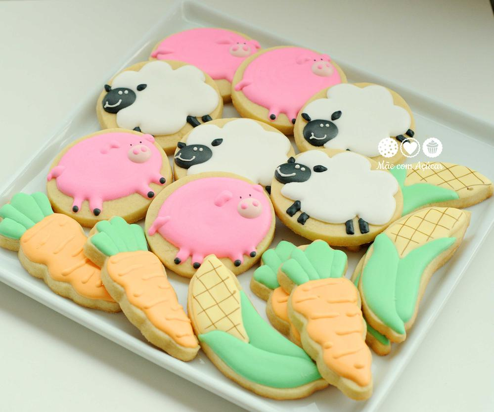 Girls Farm decorated cookies