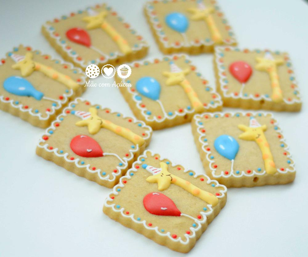 Circus Giraffe decorated cookies
