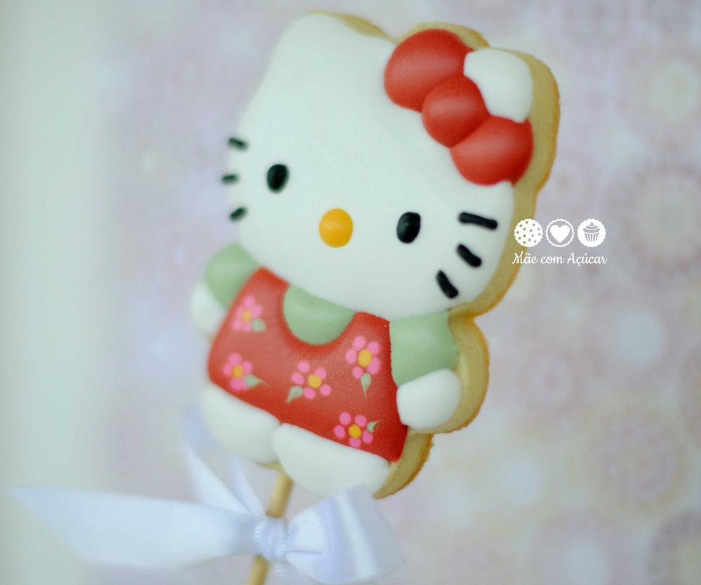 Hello Kitty and Flowers cookies