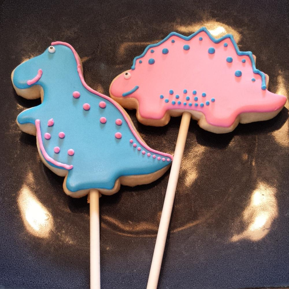Dinosaur Cookie Pops