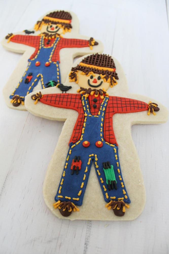 Scarecrow Decorated Cookies