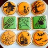 "Halloween ""painting"" cookies"