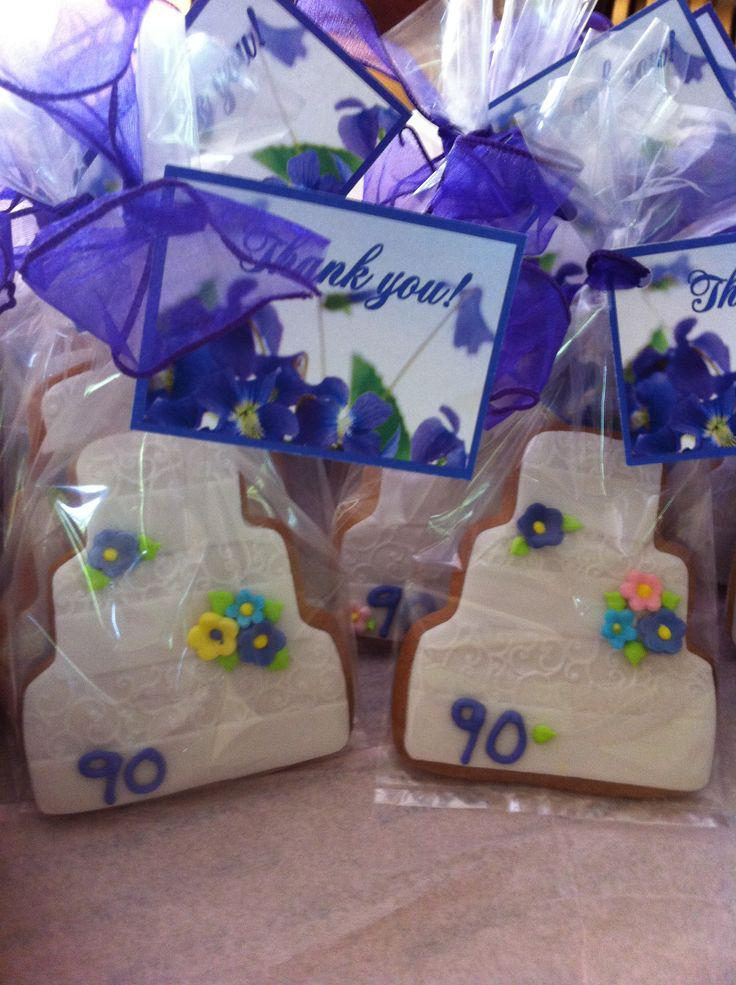 90th Birthday Favor Cookie Connection