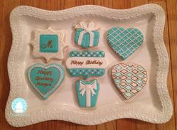 21st Birthday Cookies inspired by Tiffanys