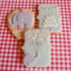 elephant themed birthday cookies