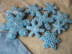 Snowflakes on Christmas tree