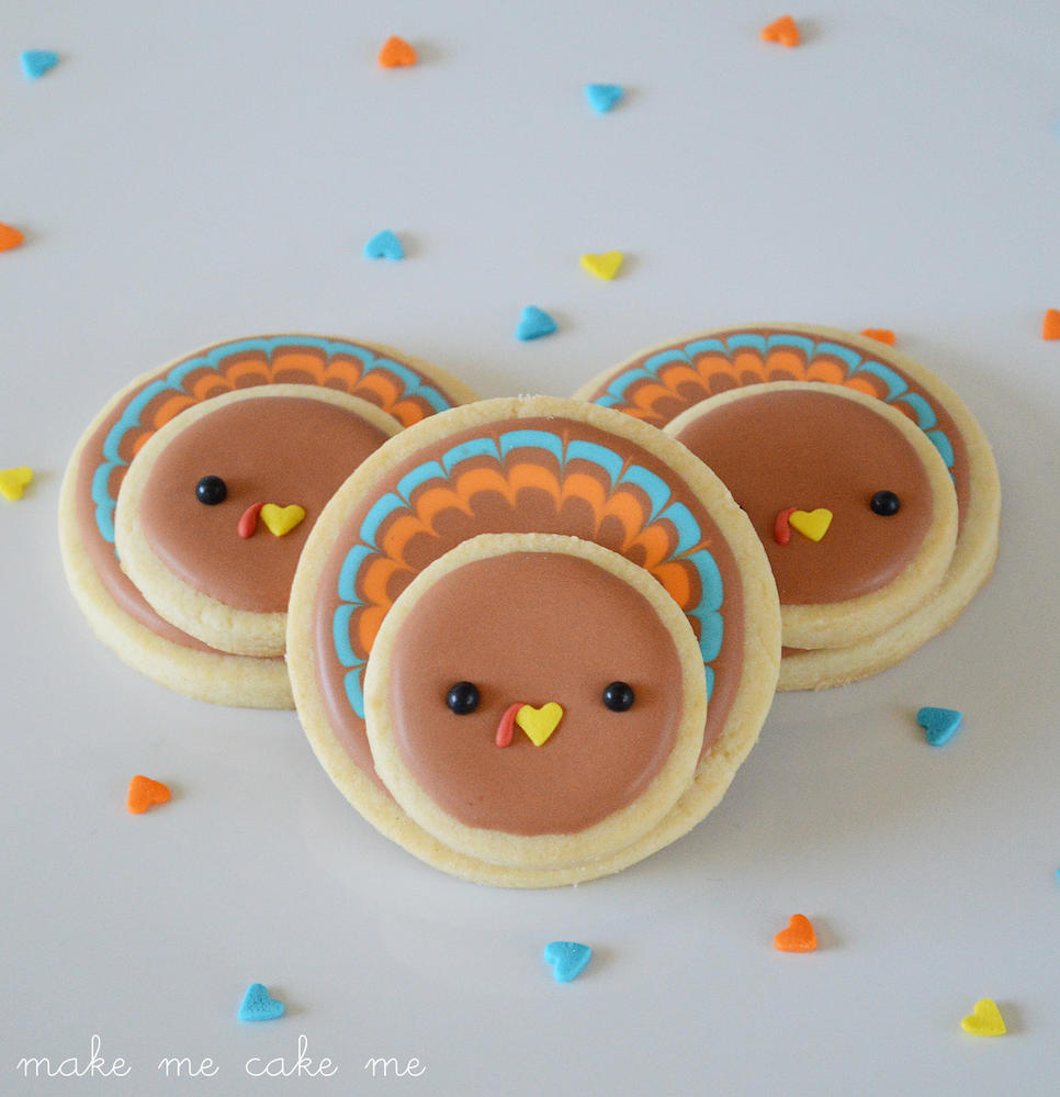 Kawaii Style Turkey Cookies from Circle Cutters