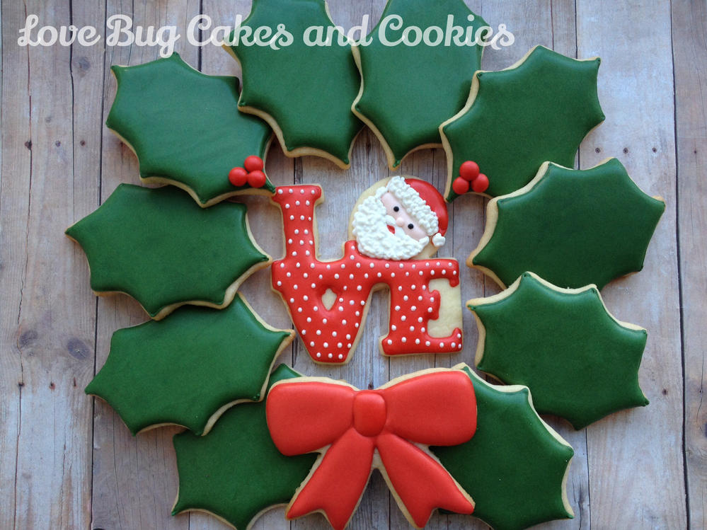 Santa Love Wreath Cookie Connection