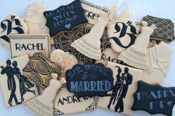 Art Deco Inspired Wedding Cookies