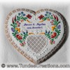 Wedding gift cookie with Hungarian folk art pattern