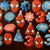 Spiderman Birthday Cookies