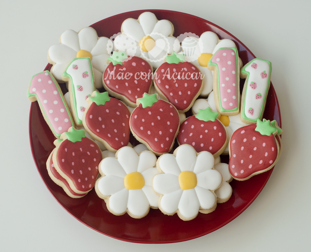 Strawberries and Flowers