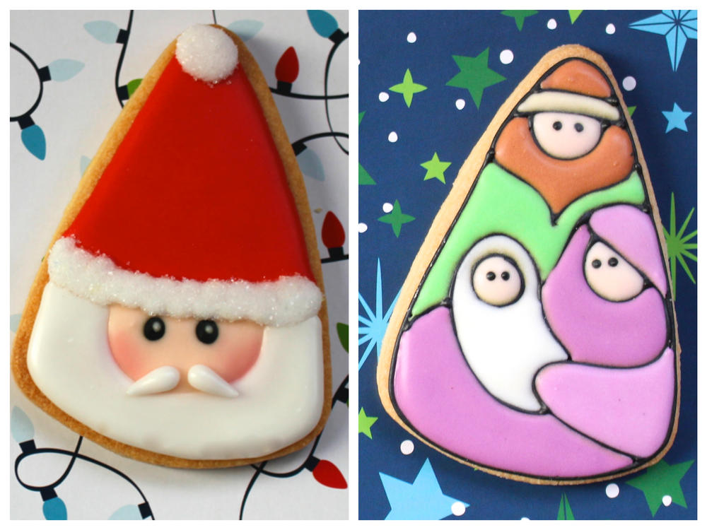 Candy corn holiday cookie designs