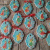 Holly Hobbie-inspired cookies