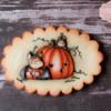 Halloween bats cookie