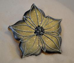 Black Frosted Poinsettia