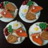 Cookie plates filled with Thanksgiving cookie dinner