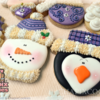 Purple Christmas Set - Penguin & Snowman