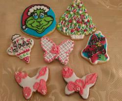 Christmas cookies 2012 Grinch, Tree, Ornaments