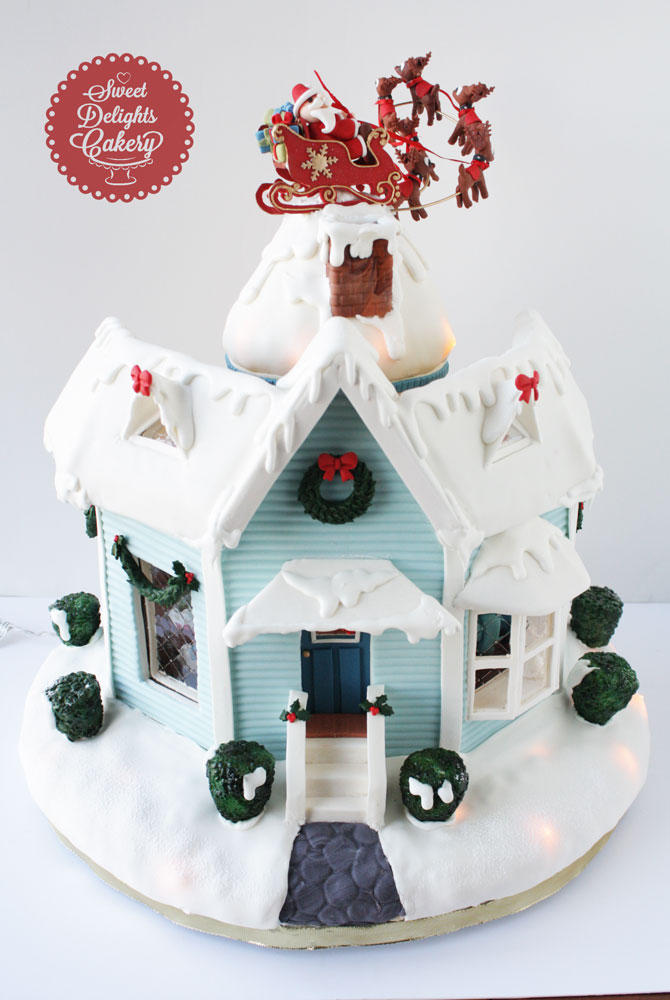 'Twas The Night Before Christmas Gingerbread House II