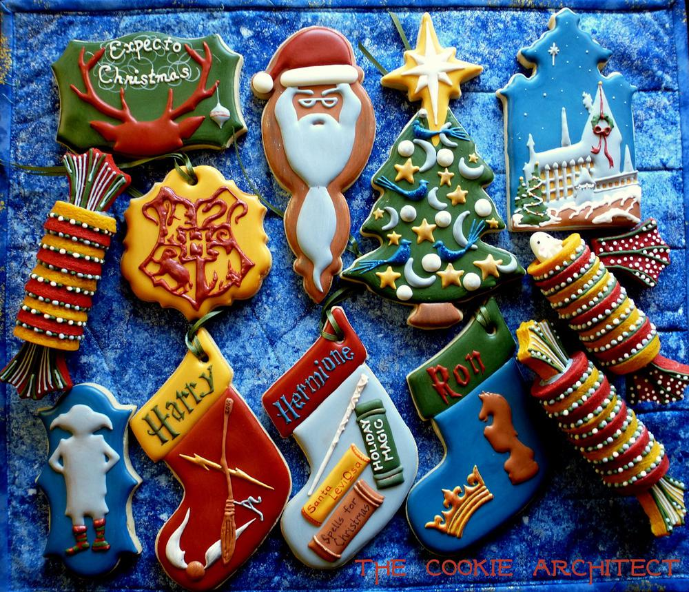 Harry Potter Cookies: Christmas at Hogwarts | The Cookie Architect