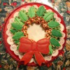 Sugar Cookie Holly Wreath Platter