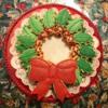 Sugar Cookie Holly Wreath Platter