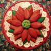 Poinsettia Christmas Gingerbread Cookie Platter