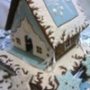 "Winter Gingerbread House ""White and blue"""