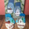 Painted Mittens from a Christmas Card