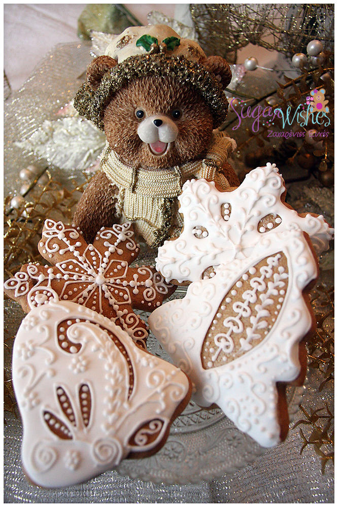 A traditional gingerbread cookie.