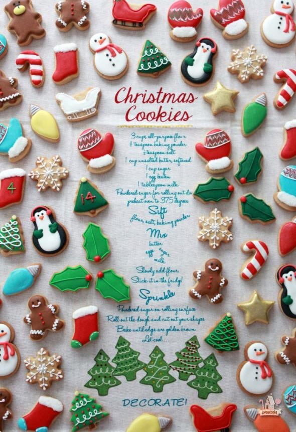 Mini Christmas Cookies-Sweetopia