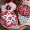 Christmas cookies with wafer paper details