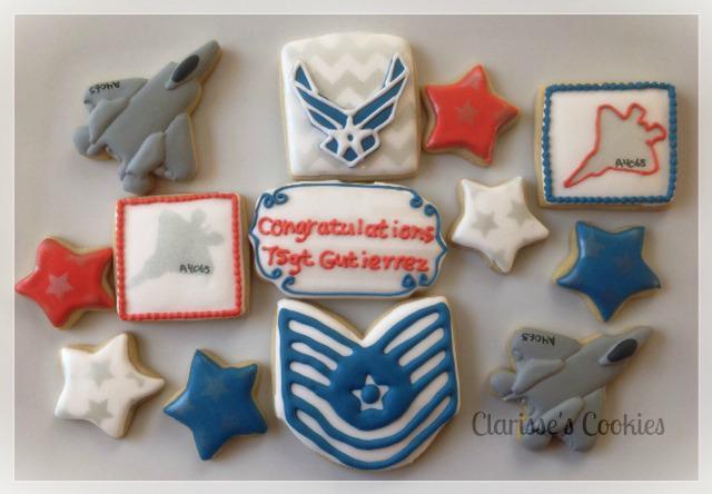 airforce retirement cookies